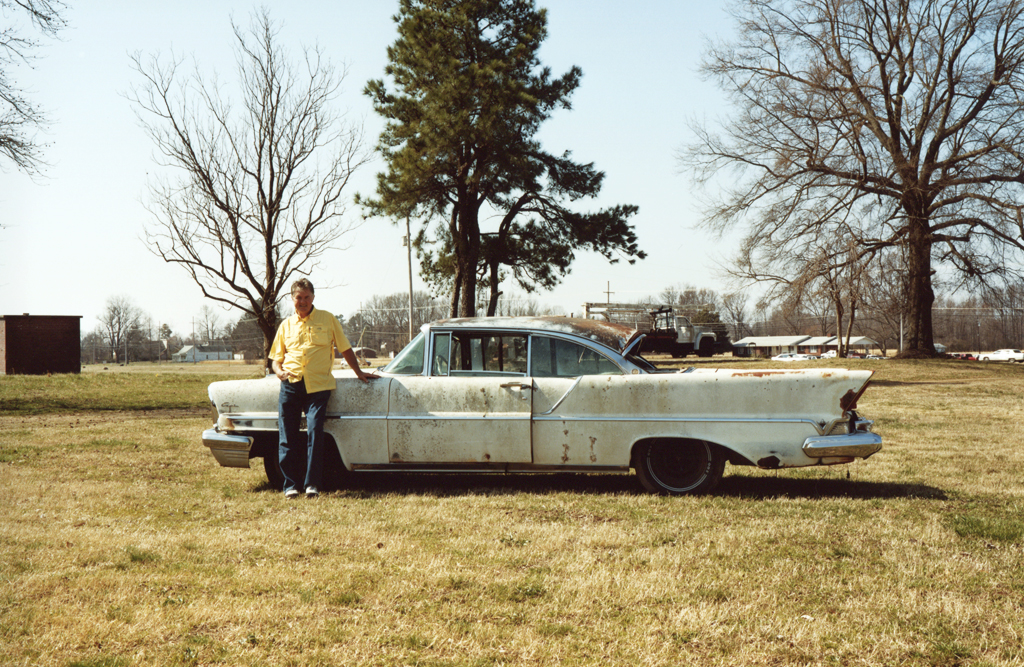 John and His Old White Cadillac, Newhaven, Tennessee, 2010.