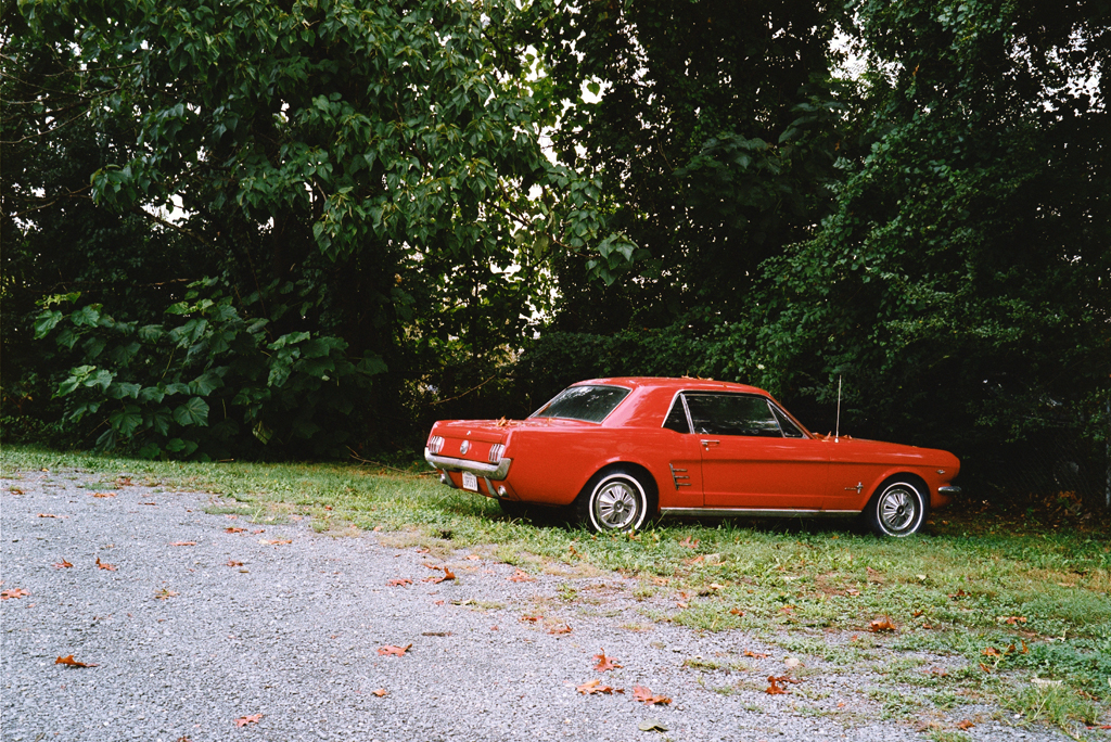 The Red Car's Parking, Charlottesville, Virginia, 2012.
