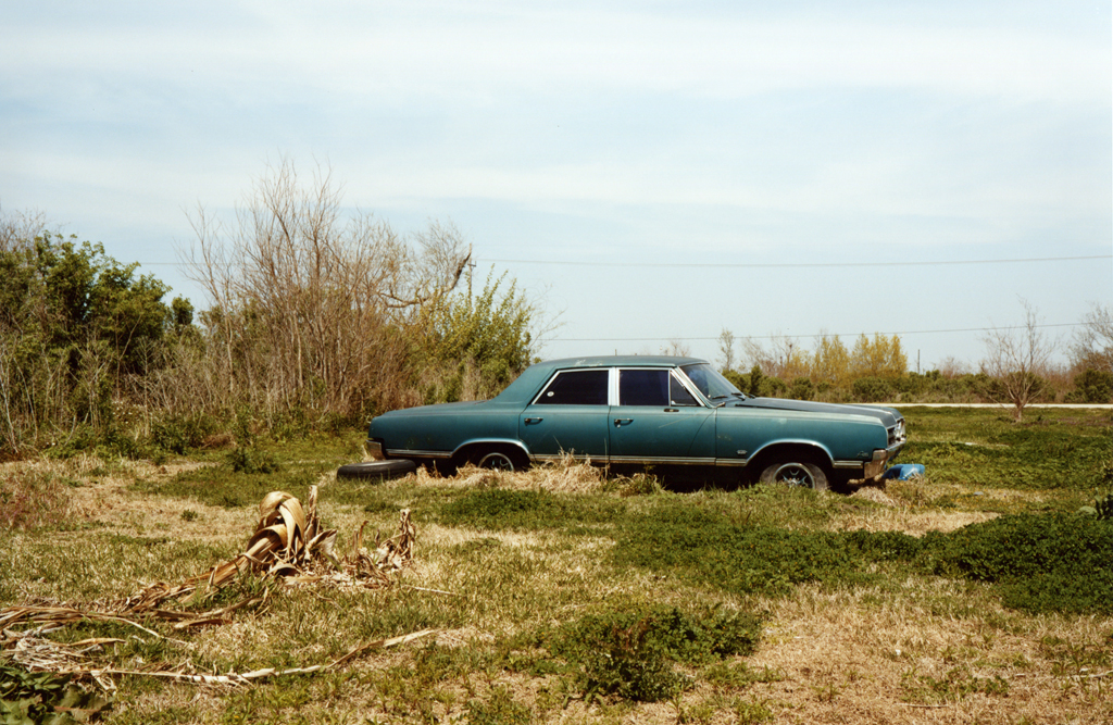 The Blue Car In A Field, Luisiana, 2010.