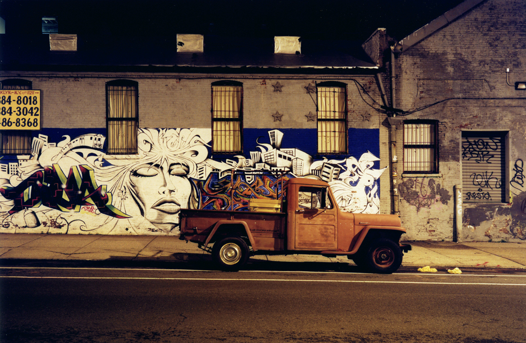The Orange Truck's Street, Williamsburg, N.Y. 2009.