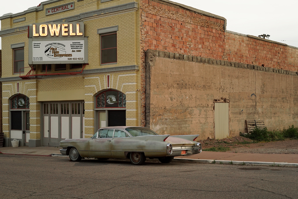 The Sanded Cadillac of the Lowell Building. Bisbee, Arizona, 2015.