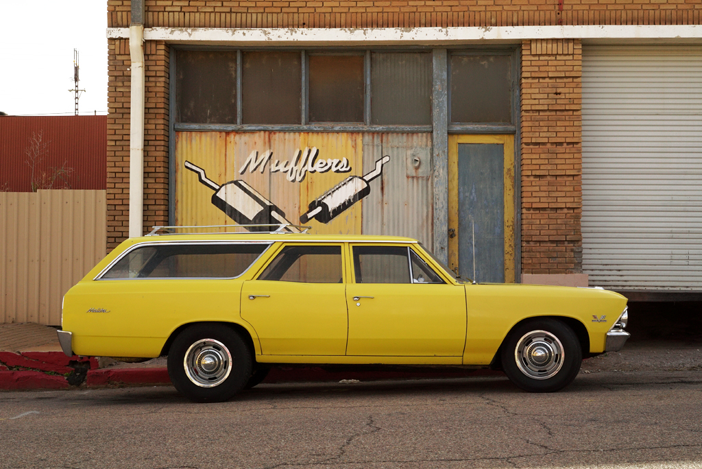 The Yellow Chevrolet Malibu Station Wagon. Bisbee, Arizona, 2015.