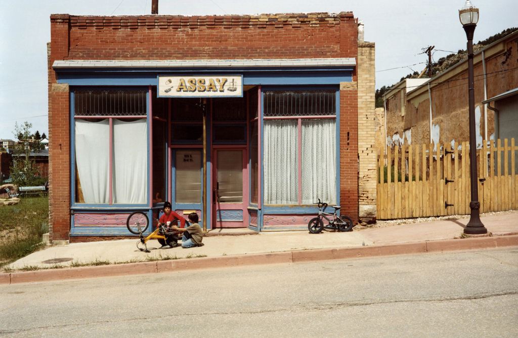 Two Kids and The Broken Bicycle, victor, Colorado, 2009.