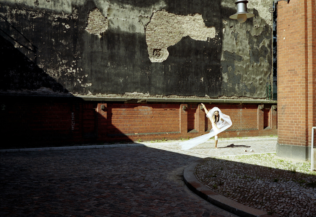 "Jill, The Crazy Bride, dancer of ""The Dance"" Nike Project, Berlin, Germany, 2006."