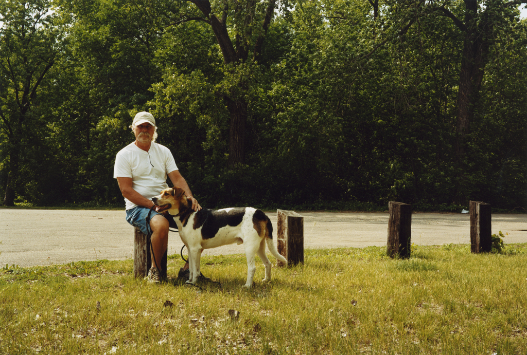 Dave Zenk and His Dog, Lasch Island, Minnesota, 2008.