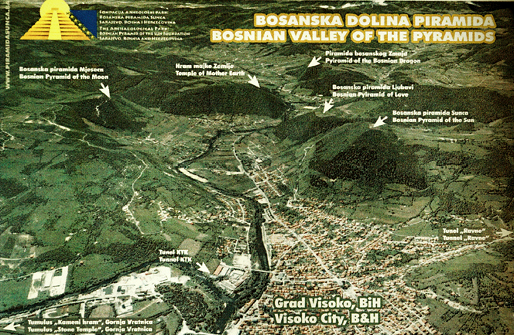 Bosnian Valley of the Pyramids Map, Sep. 2016.